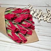 Букеты ручной работы. Ярмарка Мастеров - ручная работа Сладкий букет из роз. Букет для мамы. 8 марта. Handmade.