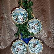 """Подарки к праздникам ручной работы. Ярмарка Мастеров - ручная работа """"Зимняя сказка"""" Сувенирный шар. Handmade."""