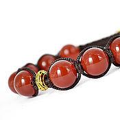Украшения handmade. Livemaster - original item Shamballa bracelet with carnelian. Handmade.
