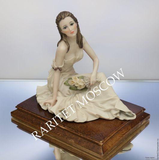 Винтажные предметы интерьера. Ярмарка Мастеров - ручная работа. Купить Девушка с цветами Belcari Каподимонте 87г 11. Handmade. Разноцветный