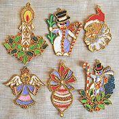 Сувениры и подарки handmade. Livemaster - original item Set of Christmas toys