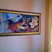 """Картины и панно ручной работы. Ярмарка Мастеров - ручная работа Панно """"Утренний кофе"""". Handmade."""