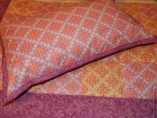Пледы и одеяла ручной работы. Ярмарка Мастеров - ручная работа. Купить Лоскутное одеяло и подушка.. Handmade. Лоскутное одеяло