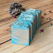 Мыло ручной работы. Ярмарка Мастеров - ручная работа Голубой Сахар, ароматное нежное натуральное мыло унисекс. Handmade.