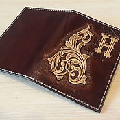 Cover handmade. Livemaster - original item Personalized passport cover, leather passport cover with monogrammed. Handmade.