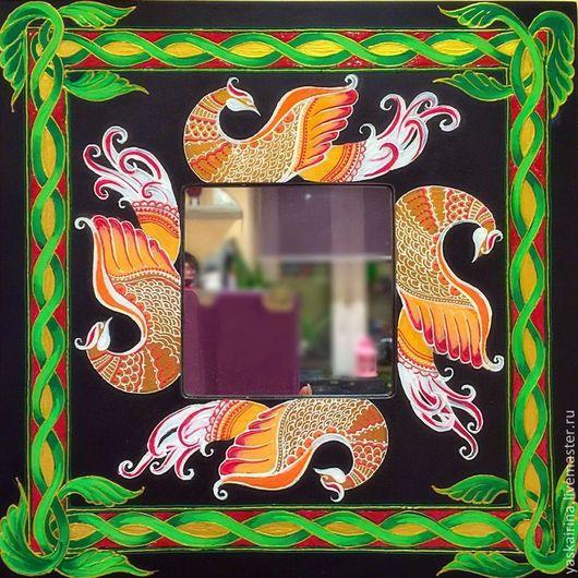 """Зеркала ручной работы. Ярмарка Мастеров - ручная работа. Купить Зеркало """"В русском стиле"""". Handmade. Разноцветный, русский стиль"""