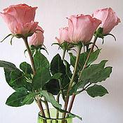 Цветы и флористика ручной работы. Ярмарка Мастеров - ручная работа Розовая роза-символ юности....... Handmade.