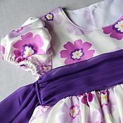 Работы для детей, ручной работы. Ярмарка Мастеров - ручная работа Платье для девочки Сиреневый цветок. Handmade.
