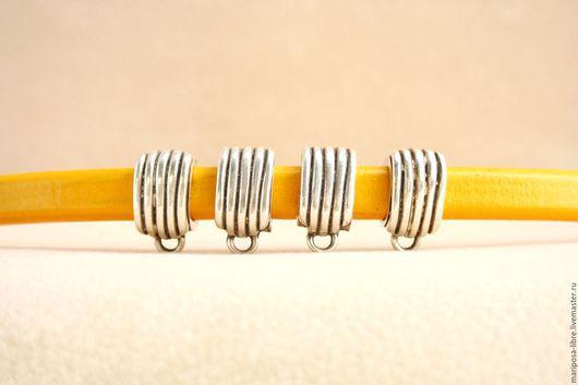 Для украшений ручной работы. Ярмарка Мастеров - ручная работа. Купить Бусина 10х7 крупный бейл, серебро. Handmade. Серебряный