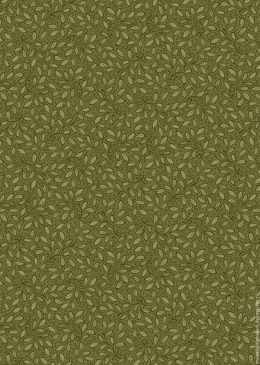 """Шитье ручной работы. Ярмарка Мастеров - ручная работа. Купить Ткань хлопок американский для пэчворка """"Зеленый с узором"""". Handmade. Зеленый"""