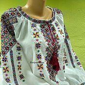 Одежда ручной работы. Ярмарка Мастеров - ручная работа Блузка с вышивкой 27-16. Handmade.