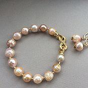 Украшения handmade. Livemaster - original item Bracelet and earrings a GIFT of pearls Kasumi Like. Handmade.