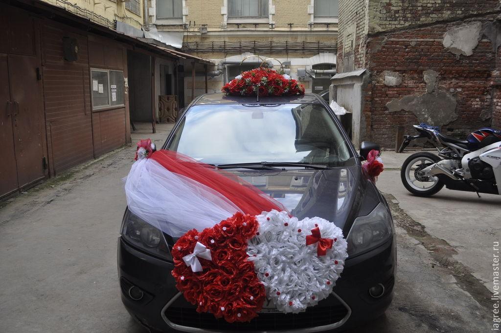 Сердечко своими руками для свадебного машины 10