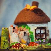 Куклы и игрушки ручной работы. Ярмарка Мастеров - ручная работа Пальчиковый театр Теремок. Handmade.