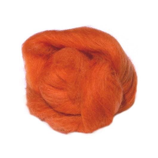 Валяние ручной работы. Ярмарка Мастеров - ручная работа. Купить Меринос 18 мк, Италия - цвет Тыква. Handmade. Рыжий