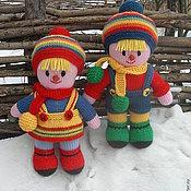 Куклы и игрушки ручной работы. Ярмарка Мастеров - ручная работа Вязаные куклы из шерсти Детство. Handmade.