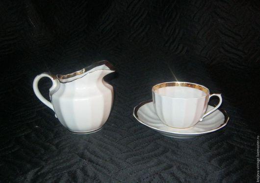 Винтажная посуда. Ярмарка Мастеров - ручная работа. Купить Молочник из чайного сервиза ДФЗ.. Handmade. Дфз, фарфоровый сливочник