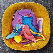"""Посуда ручной работы. Ярмарка Мастеров - ручная работа Декоративная тарелка""""Три Грации"""". Handmade."""