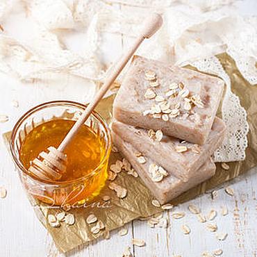 """Косметика ручной работы. Ярмарка Мастеров - ручная работа """"Лесной мед и овсянка"""" натуральное взбитое мыло. Handmade."""