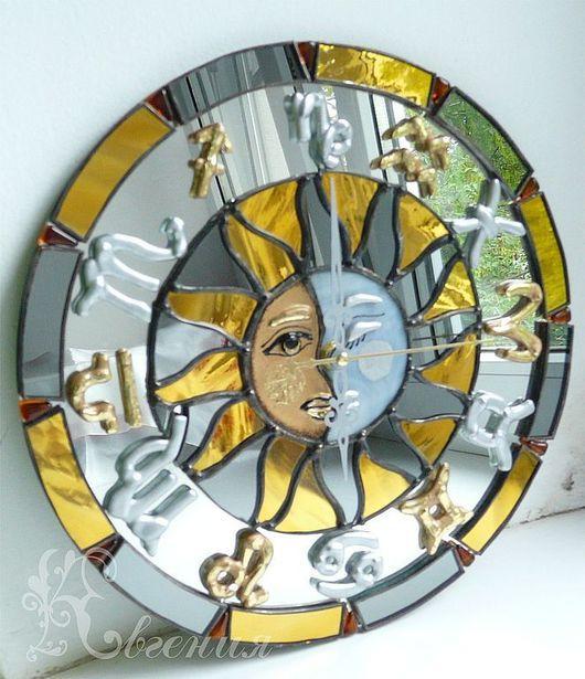 """Часы для дома ручной работы. Ярмарка Мастеров - ручная работа. Купить Часы """" Астрологические"""". Handmade. Часы необычные"""
