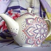 """Посуда ручной работы. Ярмарка Мастеров - ручная работа """"Орхидея"""" большой заварочный чайник с росписью. Серия Чайная посуда. Handmade."""