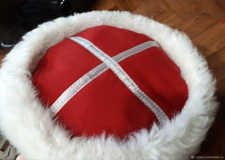 Головные уборы: Кубанка казачья белая овчина, Шапки, Краснодар,  Фото №1