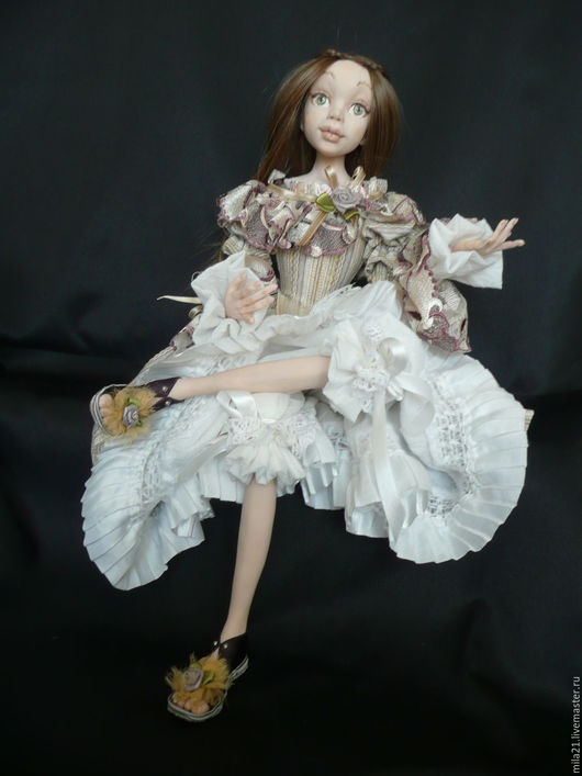Коллекционные куклы ручной работы. Ярмарка Мастеров - ручная работа. Купить Подвижная кукла Сашенька. Handmade. Комбинированный, подвижная кукла