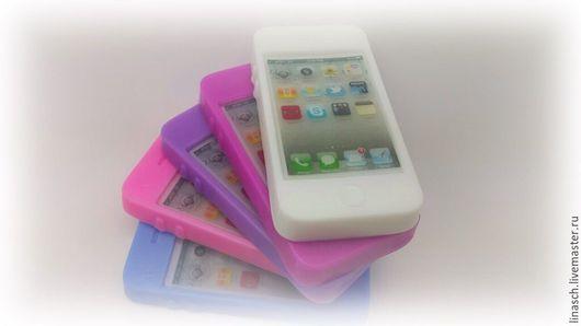 Мыло ручной работы. Ярмарка Мастеров - ручная работа. Купить Айфон разноцветный. Handmade. Бледно-розовый, мыло ручной работы