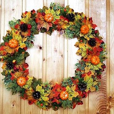 Для дома и интерьера ручной работы. Ярмарка Мастеров - ручная работа Осенний венок. Handmade.