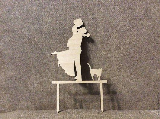 Свадебные аксессуары ручной работы. Ярмарка Мастеров - ручная работа. Купить Топпер для свадебного торта с фигурами. Handmade. Youmakeart