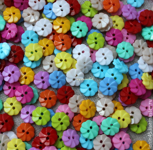 Шитье ручной работы. Ярмарка Мастеров - ручная работа. Купить Пуговицы розетки цветочки. Handmade. Пуговицы, пуговицы для кукол, пластик