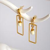 Украшения handmade. Livemaster - original item Earrings gold plated and white tree