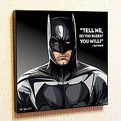 Подарки к праздникам handmade. Livemaster - original item Picture Poster Pop Art Batman 3. Handmade.