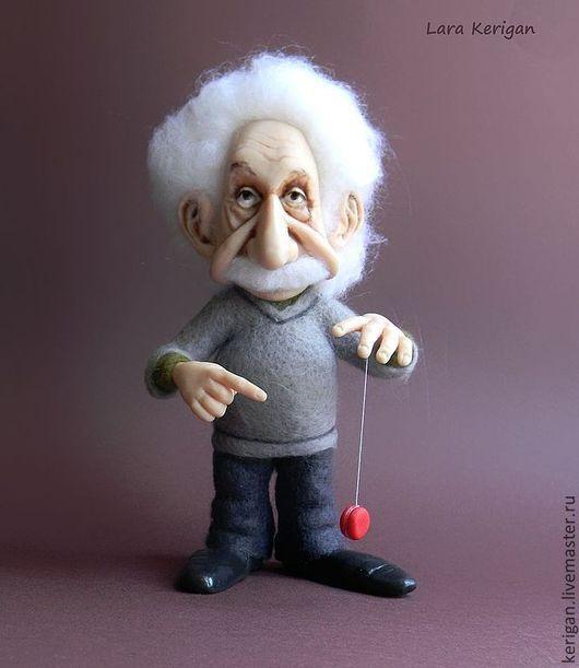 Портретные куклы ручной работы. Ярмарка Мастеров - ручная работа. Купить Эйнштейн. Handmade. Физика, эйнштейн