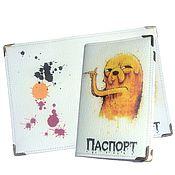 Канцелярские товары handmade. Livemaster - original item Passport cover (leather)