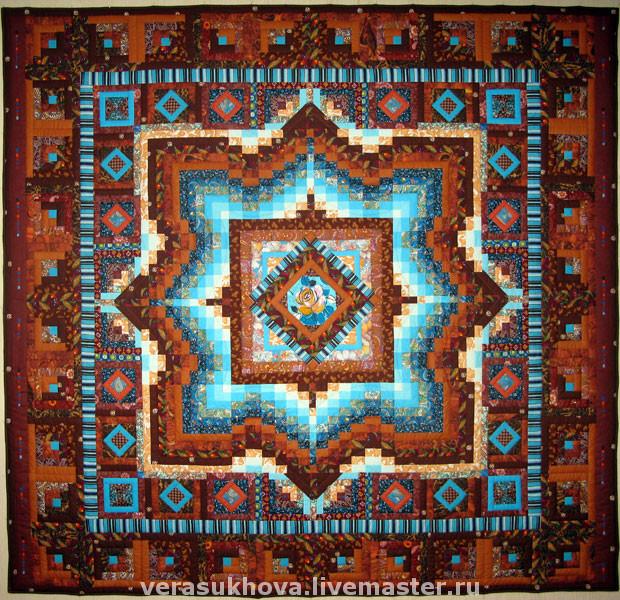 Patchwork mirror, MIRROR bedspread patchwork, Blankets, Ivanovo, Фото №1