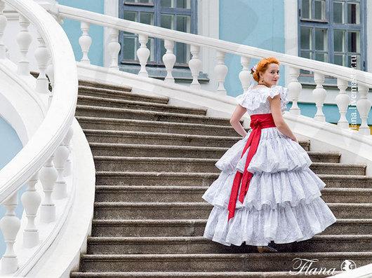 Исторический костюм, бальное платье. Индивидуальный пошив, Флана