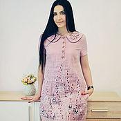 Одежда handmade. Livemaster - original item Charming powder dress with embroidery