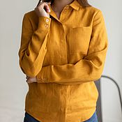 Одежда handmade. Livemaster - original item Sasha shirt, mustard color. Handmade.