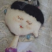 Куклы и игрушки ручной работы. Ярмарка Мастеров - ручная работа Текстильная кукла Балеринка. Чердачная и винтажная). Handmade.