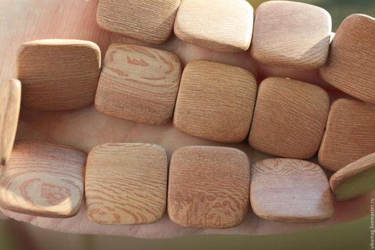 Для украшений ручной работы. Ярмарка Мастеров - ручная работа. Купить Розовое дерево, квадратные бусины 25 мм. Handmade.