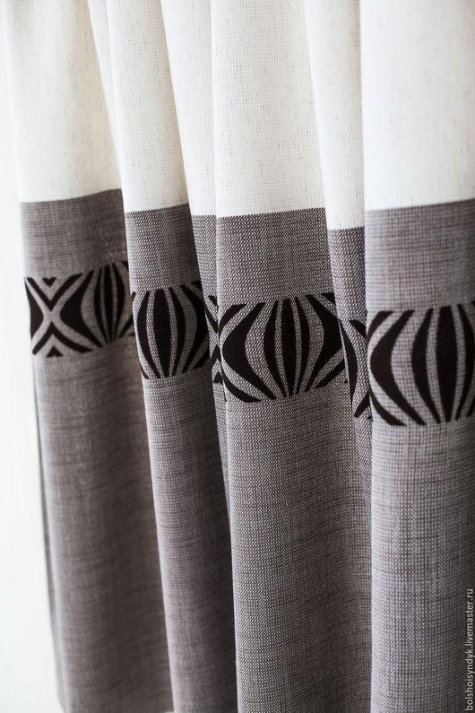 Текстиль, ковры ручной работы. Ярмарка Мастеров - ручная работа. Купить Пралине. Handmade. Коричневый, полосы, шторы в спальню