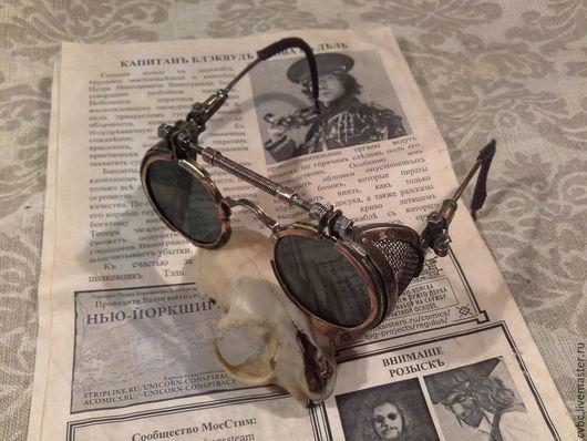 Стимпанк ручной работы. Ярмарка Мастеров - ручная работа. Купить Солнечные очки в стиле стимпанк. Handmade. Солнцезащитные очки