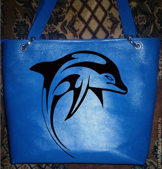 """Женские сумки ручной работы. Ярмарка Мастеров - ручная работа. Купить Женская кожаная сумка  """"Дельфин"""". Handmade. Женская сумка"""