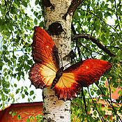 Для дома и интерьера ручной работы. Ярмарка Мастеров - ручная работа Декоративная бабочка из дерева. Handmade.