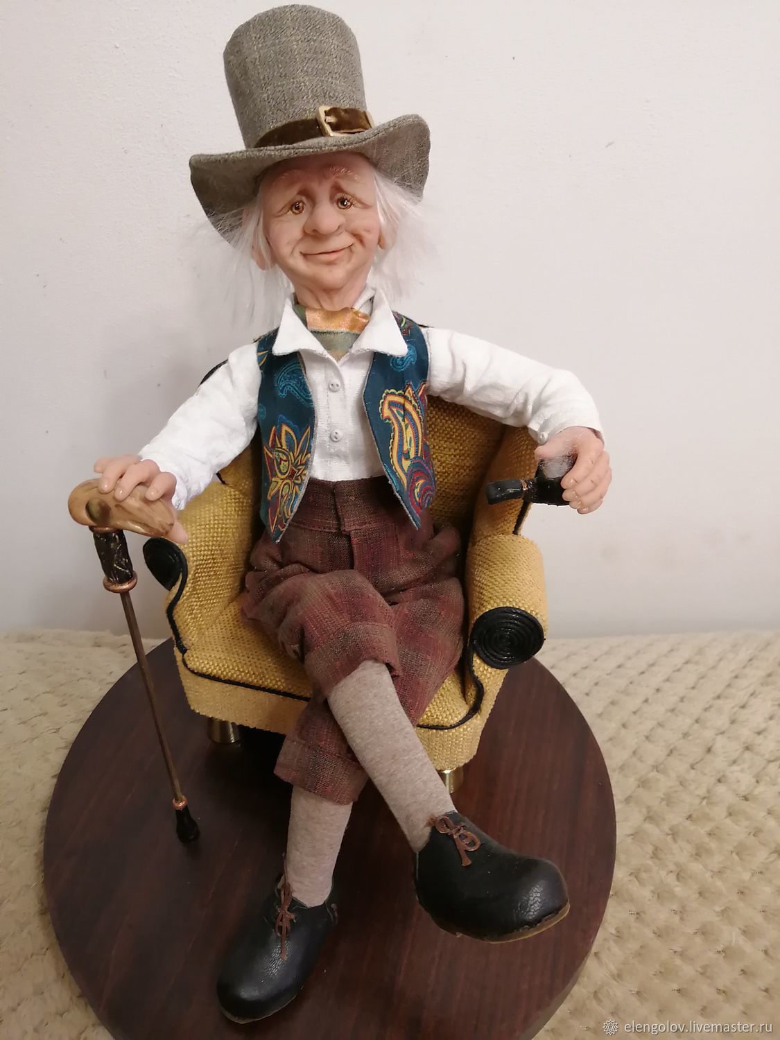 """""""Gentleman"""" doll collectible polymer clay, Portrait Doll, Moscow,  Фото №1"""