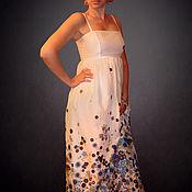 Одежда ручной работы. Ярмарка Мастеров - ручная работа Летний сарафан из батиста MARNI. Handmade.