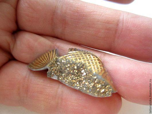 Для украшений ручной работы. Ярмарка Мастеров - ручная работа. Купить Золотая рыбка кабошон. Handmade. Разноцветный, друза агата