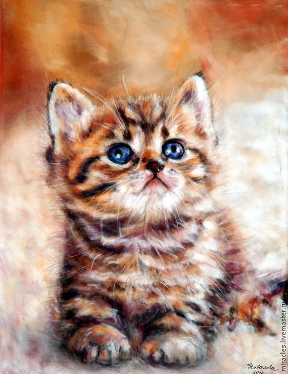 Как нарисовать котенка пастелями