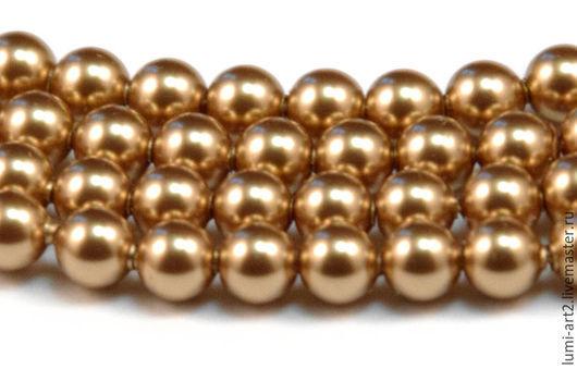 Для украшений ручной работы. Ярмарка Мастеров - ручная работа. Купить 5мм Bright Gold Жемчуг Сваровски 306 Swarovski Perl 25 шт. Handmade.